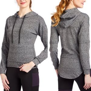 S2 Sportswear Heather Gray Hoodie, High-Low, sz M